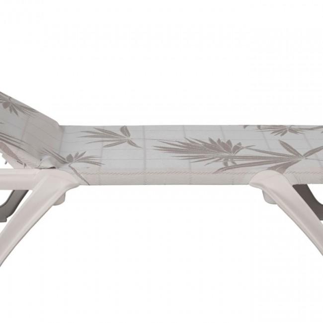 Шезлонг Eva Pro Sand Palms (3124BU) купити на сайті Shezlongi.Com.UA • Пластикові шезлонги Balliu