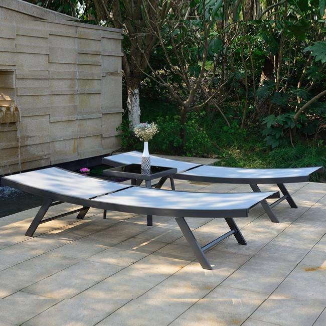 Комплект шезлонгів Ario (13234) купити на сайті Shezlongi.Com.UA • Металеві шезлонги Garden4You