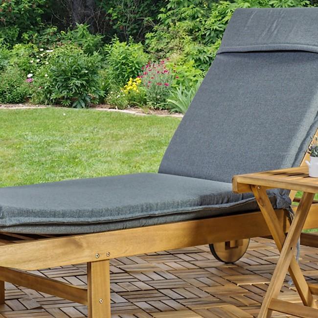 Шезлонг з акації Finlay (13190) купити на сайті Shezlongi.Com.UA • Дерев'яні шезлонги Garden4You