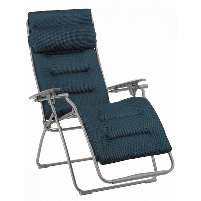 Крісло-шезлонг Futura BeComfort® Bleu Encre (lfm3130-8900) купити на сайті Shezlongi.Com.UA • Металеві шезлонги Lafuma