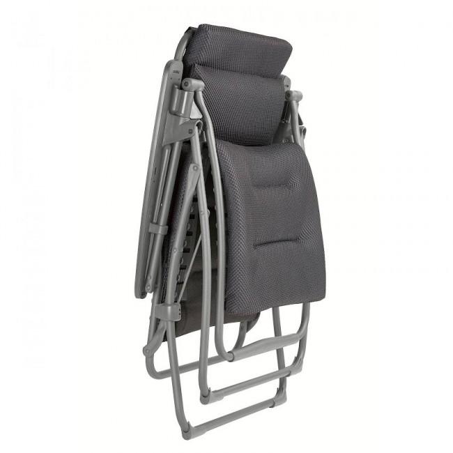 Крісло-шезлонг Futura BeComfort® Dark Grey (lfm3130-8902) купити на сайті Shezlongi.Com.UA • Металеві шезлонги Lafuma
