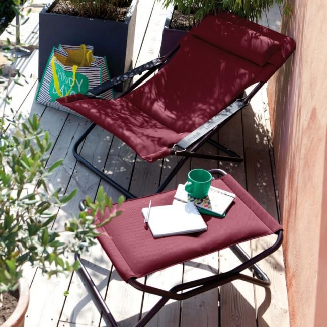 Крісло-шезлонг Transabed Bordeaux (lfm2459-3186) купити на сайті Shezlongi.Com.UA • Металеві шезлонги Lafuma