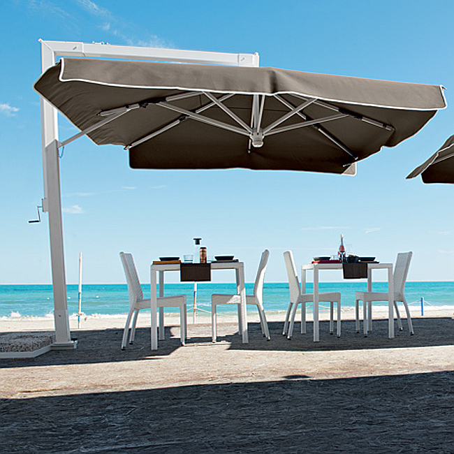 Квадратна парасоля Kandinsky (6340040081) купити на сайті Shezlongi.Com.UA • Квадратні парасолі Magnani