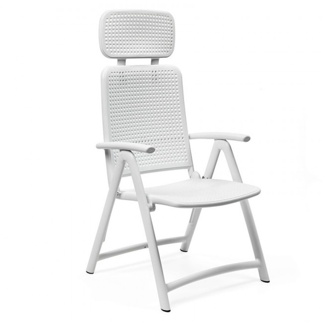 Крісло-шезлонг Acquamarina Bianco (40314.00.000) купити на сайті Shezlongi.Com.UA • Пластикові шезлонги Nardi