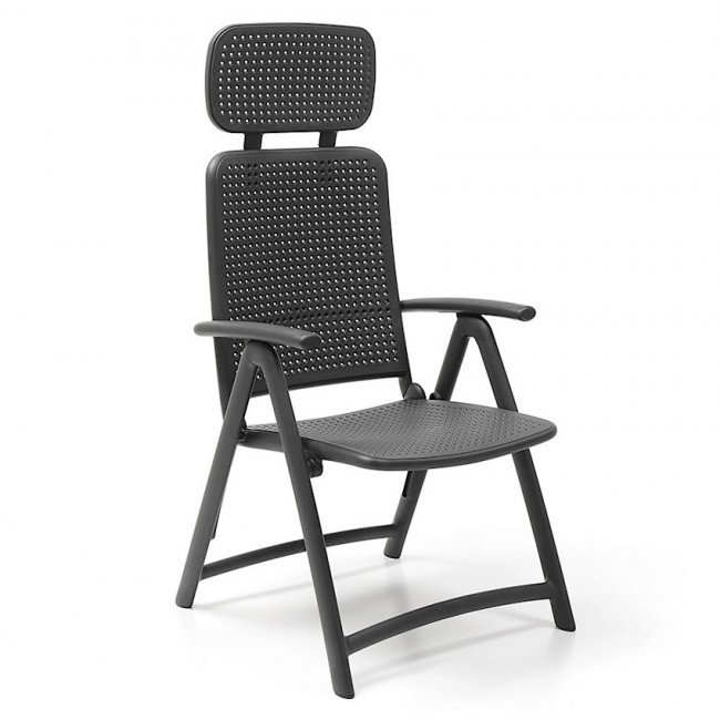 Крісло-шезлонг Acquamarina Antracite (40314.02.000) купити на сайті Shezlongi.Com.UA • Пластикові шезлонги Nardi