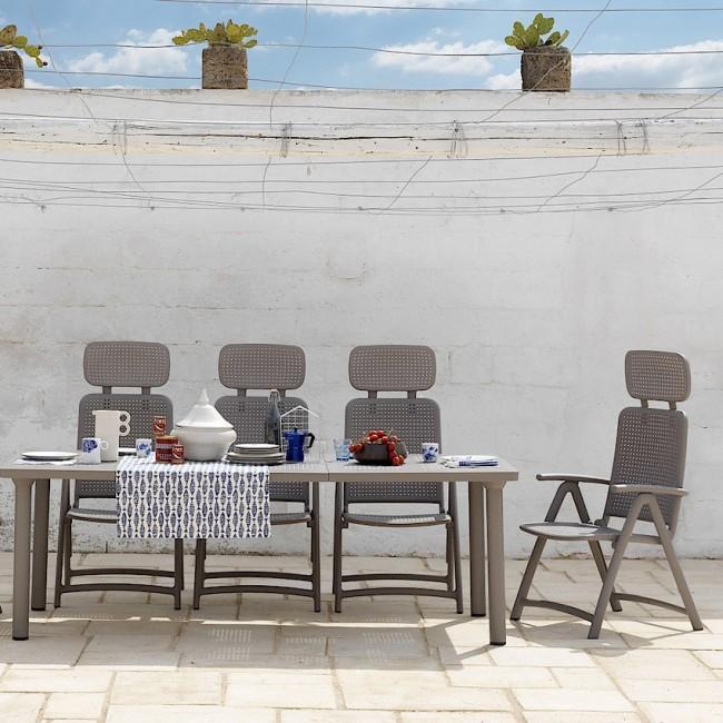 Крісло-шезлонг Acquamarina Tortora (40314.10.000) купити на сайті Shezlongi.Com.UA • Пластикові шезлонги Nardi