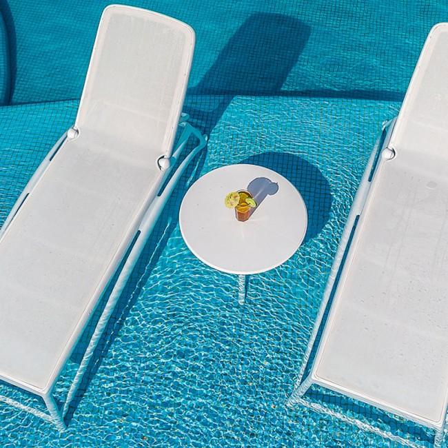 Шезлонг Atlantico Bianco Bianco (40450.00.107) купити на сайті Shezlongi.Com.UA • Пластикові шезлонги Nardi