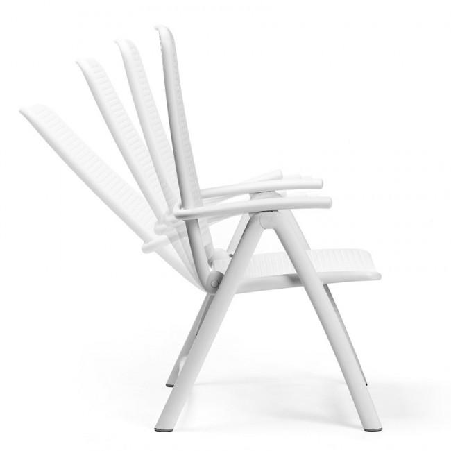 Крісло-шезлонг Darsena Bianco (40316.00.000) купити на сайті Shezlongi.Com.UA • Пластикові шезлонги Nardi