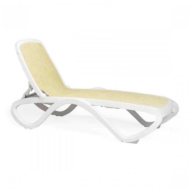 Шезлонг Omega Bianco Beige (40417.00.115) купити на сайті Shezlongi.Com.UA • Пластикові шезлонги Nardi